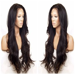 light brown body wave 2019 - Malaysia Body Wave Gluless Front Lace   Full Lace Human Hair Wigs For Black Women Pre Plucked Wavy Remy Hair Wigs 150% D