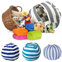 GaraGe door tools wholesale online shopping - Creative Storage Stuffed Animal Storage Bean Bag Chair Portable Kids Toy Storage Bag Play Mat Clothes Organizer Tool OOA4335
