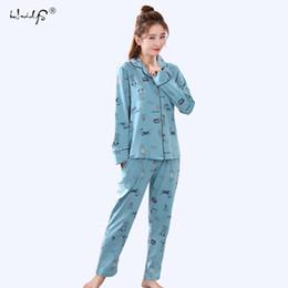 Women Autumn Winter Pajama Set Printing Pijama Homewear Pyjamas Woman  Cotton Pyjama Set Sleepwear Plus Size Pajamas For Women D18110502 63293c825