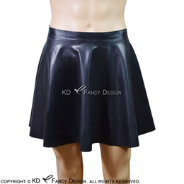 2d8625ddd Black Mini Sexy Latex Skirts Short Rubber Swing Skirt Bottoms Without Zipper  Plus Size Hot Sale DQ-0021
