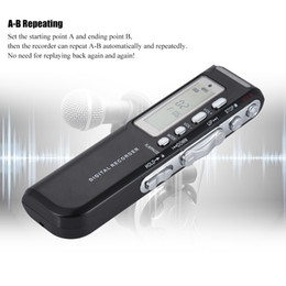 Wav Audio Music NZ - 8GB Digital Audio Voice Phone Recorder Dictaphone MP3 Music Player Voice Activate VAR A-B Repeating Loop Digital Recorder