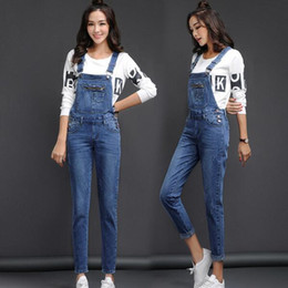 37e95035eac Classic Denim Overalls Woman 2018 Jean Jumper Female Denim Jumpsuit  Suspenders Pants Blue Women Trousers Fashion Clothes