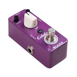 vintage effect pedals NZ - Mooer Echolizer Delay Guitar Effect Pedal Very Similar to Analog Delay Warm Vintage Delay Sound Full Metal Shell True Bypass