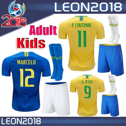 Adult Kids kits 2018 2019 Brazil Soccer Jersey COUTINHO men youth Football  Jerseys shirt G.JESUS child brasil camisetas de futbol fd03a3f5e
