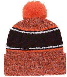 afaf5fa913a 2019 Autumn Winter hat Sports Hats Custom Knitted Cap with Team Logo  Sideline Cold Weather Knit hat Soft Warm Browns Beanie Skull Cap