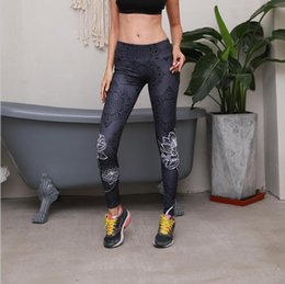abade09ac Lotus yoga online shopping - Women Lotus Digital Print Yoga Legging Sports  Workout Gym Leggings Fitness