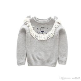 baby boy winter jumpers Australia - New Autumn Winter Baby Girls Boys Sweater Kids Cartoon Lion Knitted Pullovers Jumper Tops Boy Knitwear Child Cotton Sweaters 4204