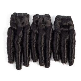 Curls hairs online shopping - 9A Funmi Hair Spring Curl inch Brazilian Indian Raw Virgin Hair Natural Color Romance Curl crochet Hair Extensions pieces