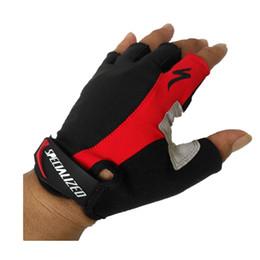 Ingrosso Marca 1 paio guanti da ciclismo mezza dita antiscivolo in gel pad traspirante moto mtb guanti da strada bici uomo donna sport bicicletta guanti da equitazione