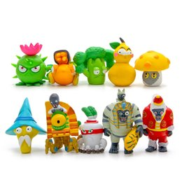 Chinese  10Pcs Set Plants vs Zombies 2 Toys Game Role Action Figures Display Toys PVC Decorations New 8th Version manufacturers