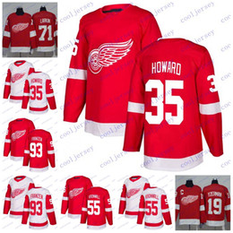 e5a5504e831 Custom 2018 Detroit Red Wings 25 Mike Green 55 Niklas Kronwall 93 Johan  Franzen 35 Jimmy Howard Hockey Jerseys White Red Stitched S-60