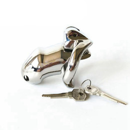 $enCountryForm.capitalKeyWord UK - Male Chastity Device Stainless Steel Chastity Cage With Arc-Shaped Cock Ring Penis Ring Sex Toys For Men Virginity Lock Y1892804