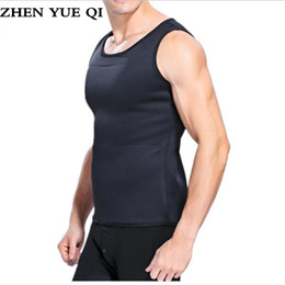 94779fcf5da75 Body Shaper Vest Men T shirt Sweat Suits for Weight Loss Waist Belt Slimming  Waist Trainer Hot Shapers Trainer Corset