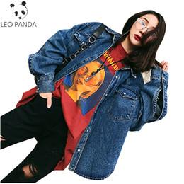 e8c5711cf0b Discount women jean jacket plus size - Casual Loose Long Sleeves Jean Coat  Women 2018 Spring