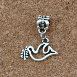 peace dove jewelry Canada - Peace Dove Olives Charms Pendants 100Pcs lot 19x24mm Antique Silver Fashion Jewelry DIY Fit Bracelets Necklace Earrings A-259