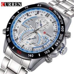Marke Curren Dashboard Dail Men Edelstahl Quarz-Armbanduhr-Art und Weise beiläufige Militärarmbanduhr Markenqualitätsgeschenkverkauf