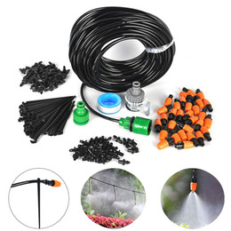 Discount hose micro irrigation - 25m DIY Automatic Micro Drip Irrigation System Plant Self Watering Nozzles Garden Hose Kits With 30pcs Adjustable Drippe