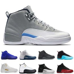 Chinese  NEW 2018 Cheap 12 XII Mans Basketball Shoes Sneakers Women Taxi Playoffs Gamma Blue Grey Sports Running Shoes For men US 5.5-13 manufacturers