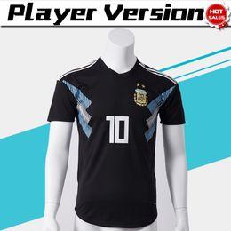 230101cf335 Player Version 2018 World Cup Argentina Away Soccer Jersey Argentina #10  MESSI Soccer Shirt #21 DYBALA #19 KUN AGUERO Away Football Uniforms