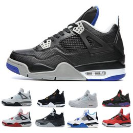 0bb8188fd8b9 with box 4 4s Basketball Shoes men Pure Money Black cat White Cement Bred  Royalty Raptors Fire Red 4s mens Sports trainers Sneakers