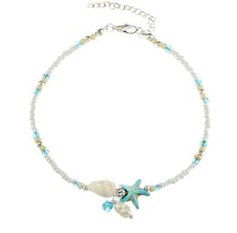 Discount sandals shells - New Shell Anklet Beads Starfish Anklets For Women Fashion Vintage Handmade Sandal Statement Bracelet Foot Boho Jewelry