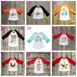 wholesale kids tshirts Australia - Christmas Girls Childrens T-shirts Autumn Long Sleeve tshirts Tops Cotton Girl Kids Halloween Tshirts Enfant Tees Tops Boutique Clothes 9 S