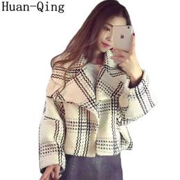 $enCountryForm.capitalKeyWord NZ - Plus Size Small Fragrance Tweed Jacket Coat Autumn Women's Korean Long Sleeve Casaco Loose Woolen Jacket Plaid Coats Outerwear