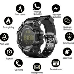 Bluetooth watches windows online shopping - SOVO SG10 Bluetooth Clock EX16 Smart Watch Notification Remote Control Pedometer Sport Watch IP67 Waterproof Men s Wristwatch