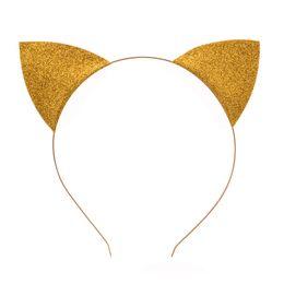 $enCountryForm.capitalKeyWord Canada - Girls cute cat ears headband alloy thin glitter cartoon hairband sexy self photo prop hair band women hair accessories headdress