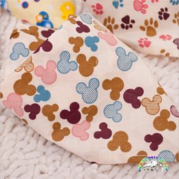 Towels For Dogs NZ - Multicolor Dog Bandana For Large Dog And Puppy Optional Cartoon Pet Saliva Towel Pet Dog Triangle Scarf Cat Neckerchief
