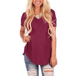 T Shirt Loose Australia - Plus Size 5XL Summer T Shirt 2019 Women Short Sleeve V Neck T-Shirt Irregular Hem Tops Casual Solid Long Tees Loose Female Tunic