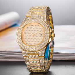 Glasses Trade Australia - Foreign Trade Hot Sale Men's Quartz Watch High Quality Luxury Fashion Diamond Date Quartz Wacth Men Sport Wristwatches 45_01