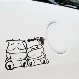 Body Stickers For Truck Australia - 12*15cm New Style Car Styling Two Cute Cow Cattle Car Stickers for Truck Decor Auto Door Body Car Accessories
