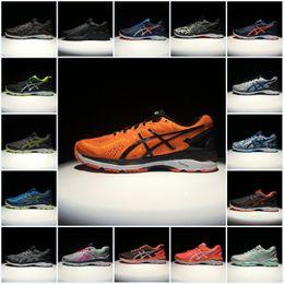 70acf76430683 2018 Asics Originals Mens Gel-Kayano 23 T646N Top Running Shoes Orange Gray  Green Blue Black Basketball Shoes Sport Sneakers