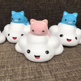 Animal Pussy Toys NZ - Kawaii Cartoon Animal Pussy Cat Clouds Squishy Slow Rising Phone Strap DIY Decor Kid Toys Squeeze Soft Bread Drop Ship