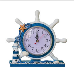 Mediterranean Gifts Canada - Mediterranean Style Wooden Table Desk Clock Living Room Beauty Classical Decoration Brand Design Gift Clock Free Shipping