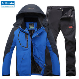 d1ca212de15 Plus Size Ski Jackets NZ - Ski Jacket suits Men Waterproof Fleece Snow  Jacket Thermal Coat