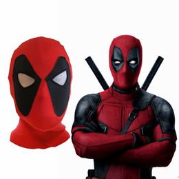 marvel deadpool masks head cover hood superhero cosplay costume party headwear bow cap full face for men kids nna523 120pcs deadpool kid halloween costume