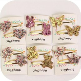 Kids Butterfly Hair Clips NZ - cute butterfly hairpin baby girls kids hair clip bobby pins accessories for children hair barrette hairclip hairgrip headdress