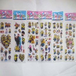 Wholesale 100sheets lot 3D Carton bubble sticker of Despicable Me2 puffy stickers for kid's birthday present KIds Classic Toys Sticker