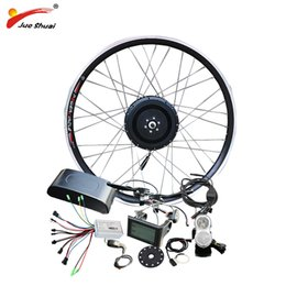 "electric wheels kit NZ - wholesale 48V 500W Hub Motor E Bicycle Ebike Conversion Kit for 26"" 700C Front Wheel Brushless Electric Wheel for Electric Bike"