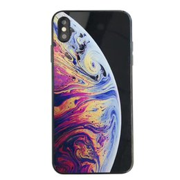 glossy hard case cover UK - Bubbles Wallpaper Case For iPhone Xs Max Bumper Silicone+PC Acrylic Planet Pattern Back Cover for iPhone X Xr Xs Glossy Abstract Hard Shell