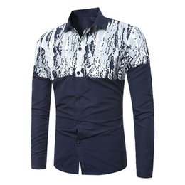 $enCountryForm.capitalKeyWord Australia - White Snow Patchwork Male Shirt Classic England Style Tide Boy Casual Blouses 3XL Slim Blusa Long Sleeve Spring New Men Tops