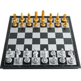 Toy Man Women NZ - Learning and Education Toys Gift Folding Magnetic Travel International Chess Sets Portable Game Board Chess Set for Kids Adult Man Women