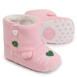 Discount infants crocheted booties - Winter Keep Warm Boots Catoon Cute Infant Toddler Baby Boy Girl Soft Sole Crib Shoes Crochet Newborn Snow Booties Size 1