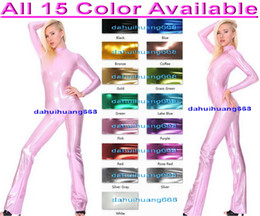 $enCountryForm.capitalKeyWord Canada - Sexy Dance Costumes Unisex Outfit New 15 Color Shiny Lycra Metallic Dance Suit Catsuit Costumes Unisex Sexy Body Suit Cosplay Costumes DH066