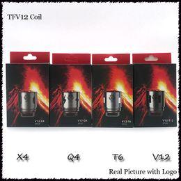 Cloud Atomizers Wholesale Australia - TFV12 Coil Head Replacement V12 T12 T8 T6 X4 Q4 Atomizer Heads For TFV12 Tank Beast Cloud Monster Vape Coils
