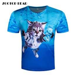 b3926432090f Men Money Shirt Canada - 3d T shirt Printed Top Tee Men Cat T-shirt