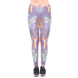 b99f44be524f0 Girls Wearing Leggings Tights UK - Women Leggings Color Lizard 3D Print  Lady Skinny Stretchy Yoga