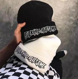 Hip-hop street winter plus velvet Fucking Awesome knit hat men and women  wool hat dome cap 7425f2baf91